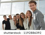 group of successful young... | Shutterstock . vector #1192886392
