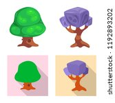 vector illustration of tree and ... | Shutterstock .eps vector #1192893202
