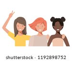 young women avatar character | Shutterstock .eps vector #1192898752