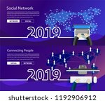 new year 2019 global network... | Shutterstock .eps vector #1192906912