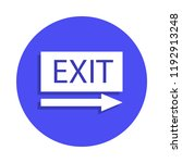 exit icon in badge style. one...