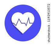 heartbeat icon in badge style....