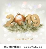 holiday background with a 2019... | Shutterstock .eps vector #1192916788