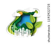 green ecology and environment... | Shutterstock .eps vector #1192922725