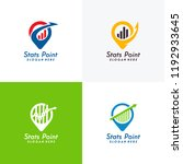 set of finance point logo... | Shutterstock .eps vector #1192933645