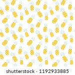 pineapple pattern background | Shutterstock .eps vector #1192933885