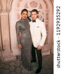 Small photo of New York, NY/ USA -September 8, 2018: Priyanka Chopra and Nick Jonas attend Ralph Lauren's 50th Anniversary at Bethesda Terrace in Central Park. Hugo A.k.A. Sppider