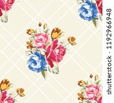 seamless floral pattern with... | Shutterstock .eps vector #1192966948