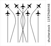 airplane flying formation  air... | Shutterstock .eps vector #1192968448