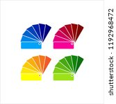 color sample fan card icon... | Shutterstock .eps vector #1192968472