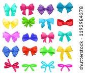 bow vector cartoon bowknot or... | Shutterstock .eps vector #1192984378