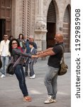 perugia  italy  may 13  2013 ... | Shutterstock . vector #1192985908