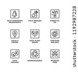 vector set of design elements ... | Shutterstock .eps vector #1192987228