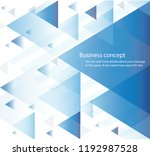 abstract blue triangle...   Shutterstock .eps vector #1192987528