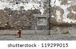 Facade Of An Ancient Brick Wall ...