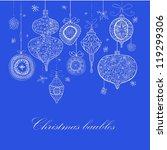 doodle textured christmas... | Shutterstock . vector #119299306