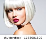 fashion stylish  portrait with... | Shutterstock . vector #1193001802