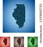 map of illinois | Shutterstock .eps vector #1193005732