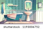 bathroom interior in vintage... | Shutterstock .eps vector #1193006752