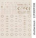 vintage set exclusive borders... | Shutterstock .eps vector #1193009338