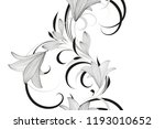 abstract  hand drawn floral... | Shutterstock .eps vector #1193010652
