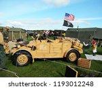 vintage military volkswagen... | Shutterstock . vector #1193012248