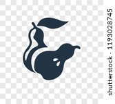 pear vector icon isolated on... | Shutterstock .eps vector #1193028745