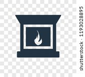 fireplace vector icon isolated... | Shutterstock .eps vector #1193028895