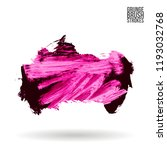pink brush stroke and texture.... | Shutterstock .eps vector #1193032768