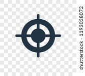 target vector icon isolated on... | Shutterstock .eps vector #1193038072