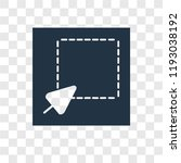 select vector icon isolated on... | Shutterstock .eps vector #1193038192