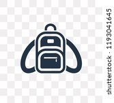 backpack vector icon isolated... | Shutterstock .eps vector #1193041645