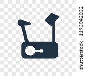 stationary bike vector icon... | Shutterstock .eps vector #1193042032