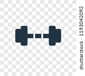 dumbbell vector icon isolated... | Shutterstock .eps vector #1193042092