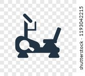 stationary bike vector icon... | Shutterstock .eps vector #1193042215