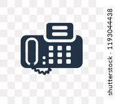 fax vector icon isolated on... | Shutterstock .eps vector #1193044438