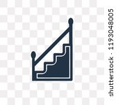 stairs with handle vector icon... | Shutterstock .eps vector #1193048005