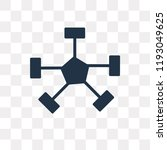 nodes vector icon isolated on... | Shutterstock .eps vector #1193049625