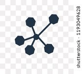 nodes vector icon isolated on... | Shutterstock .eps vector #1193049628