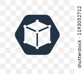 cube vector icon isolated on...   Shutterstock .eps vector #1193052712