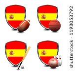 spain shield. sports items | Shutterstock . vector #1193053792