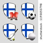 finland shield. sports items | Shutterstock . vector #1193053798