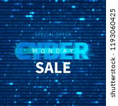 cyber monday sale background... | Shutterstock .eps vector #1193060425