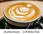 latte art coffee. | Shutterstock . vector #1193062762