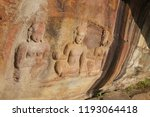 ancient mural hinduism lord... | Shutterstock . vector #1193064418