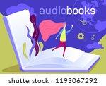 audio books flat vector... | Shutterstock .eps vector #1193067292