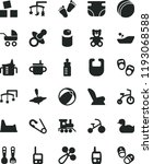 solid black flat icon set toys... | Shutterstock .eps vector #1193068588