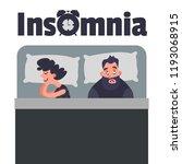 sleepless insomnia concept art. ... | Shutterstock . vector #1193068915