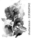 watercolor summer flowers.... | Shutterstock . vector #1193069542