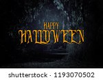 halloween mysterious background ... | Shutterstock . vector #1193070502